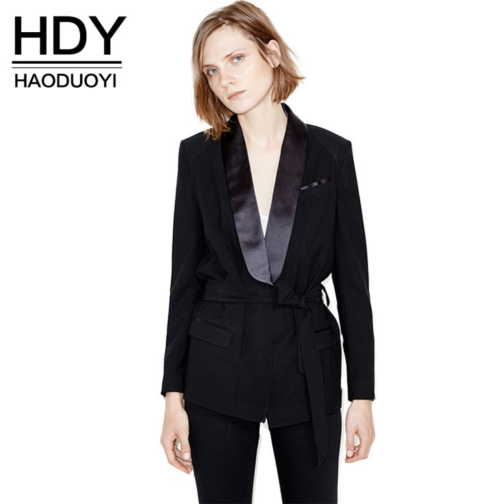 Find More Trench Information about HDY Haoduoyi 2016 Autumn Fashion Women Solid Black Waist Tie Sequin Plunge Neck Trench Coat Caual OL Pockets Long Sleeve Coat,High Quality coat blue,China coated wallpaper Suppliers, Cheap coates house from NEW FASHIONS  on Aliexpress.com
