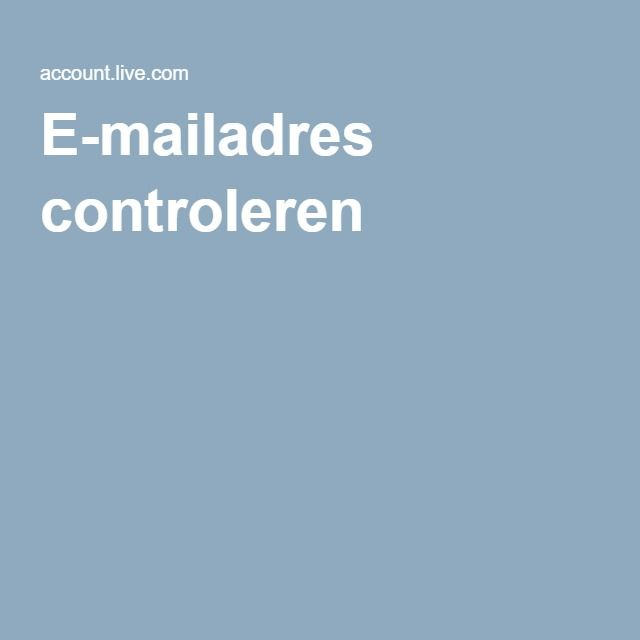 E-mailadres controleren