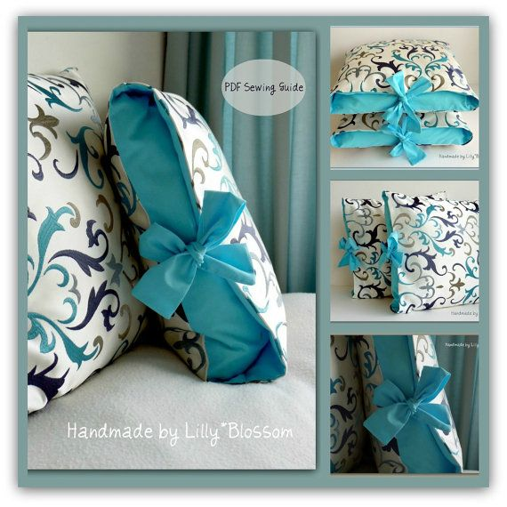 PDF Sewing Pattern Contrast Tied Cushion Cover от LillyBlossom