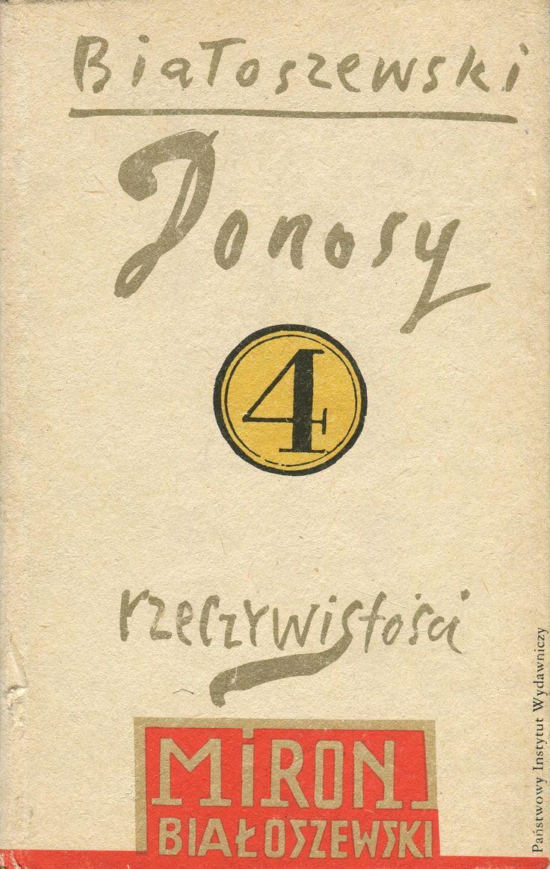 DONOSY RZECZYWISTOŚCI, Warszawa 1989, book cover by Henryk Tomaszewski.