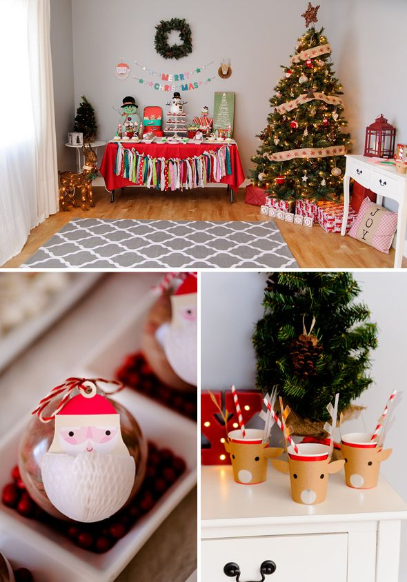 So many fun and creative details in this Kids Holly Jolly Christmas Party by www.prettymyparty.com.