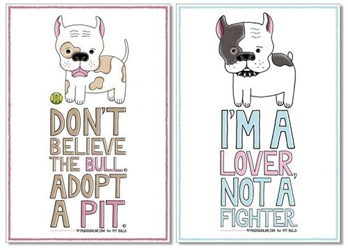 Pit bull PSA posters by Tara Metzler