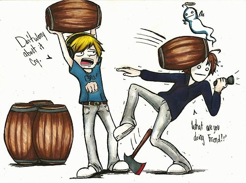 Cryaotic and Pewdiepie. Bahahaha this is what happens... haha