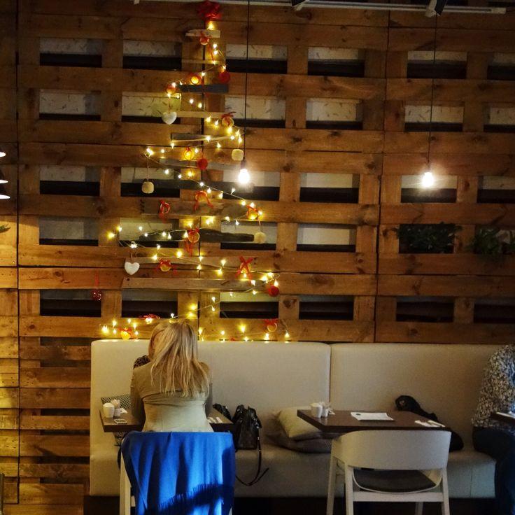 Xmas tree in Epopey restaurant @ fusion hotel prague www.fusionhotels.com