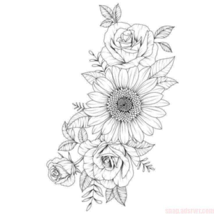 39 Impressive Black And White Sunflower Tattoo Ideas Tattoos Foot Tattoos Flower Tattoo Designs