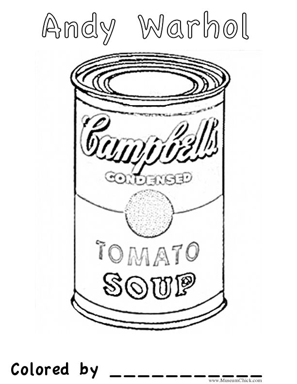 campbells soup coloring pages - photo#2