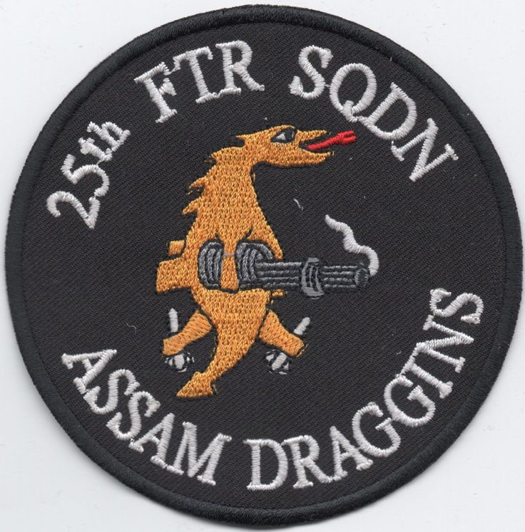 US Air Force 25th Fighter Sqdn Assam Draggins patch, A-10 Thunderbolt
