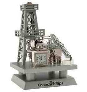 "#NFCK494 Offshore oil rig clock. Size: 6"" H x 4"" W x 4"" L ..."