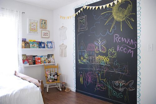 Genius Idea For A Kidu0027s Room: Chalkboard Wall! Part 82