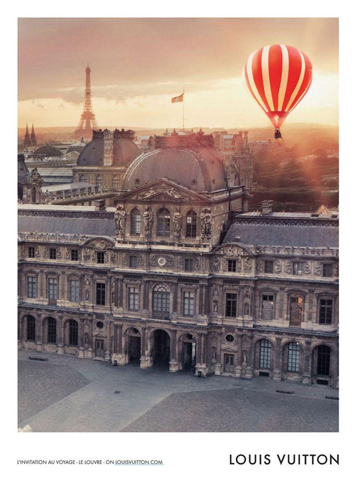 Okay, I'll take a hot air balloon ride over Paris. Inez & Vinoodh for Louis Vuitton