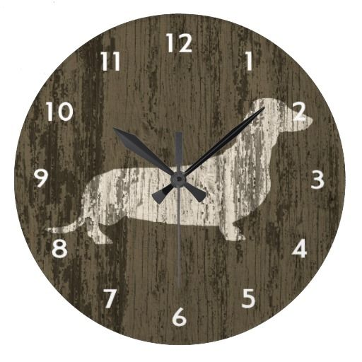 Weathered Dachshund Clock