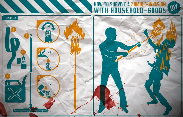 how to survive a ZOMBIE-INVASION with household-goods  02Zombies Apocalypse, Zombies Plans, Zombie Invasion, Zombies Inva, Beats Zombies