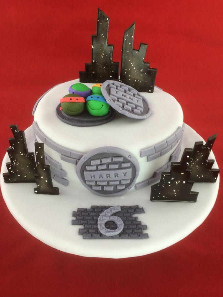 Teenage Mutant Ninja Turtle birthday cake.