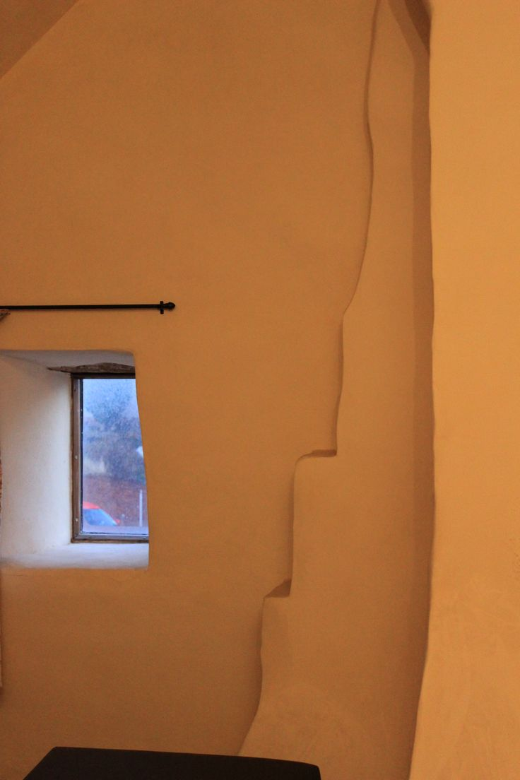 Bedroom 4 with huge, shaped chimney breast and deep window sills