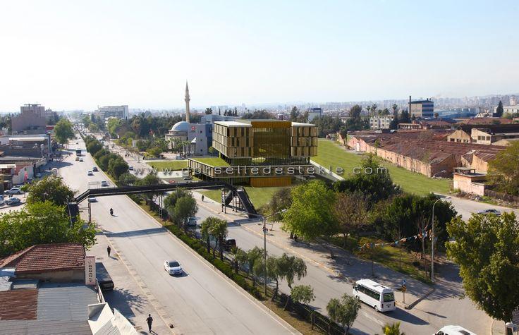Adana Ticaret Odası Yarışma Projesi, Görselleştirme Çalışması. Proje Müellifi: Ahmet Anıl, Kubilay Metin