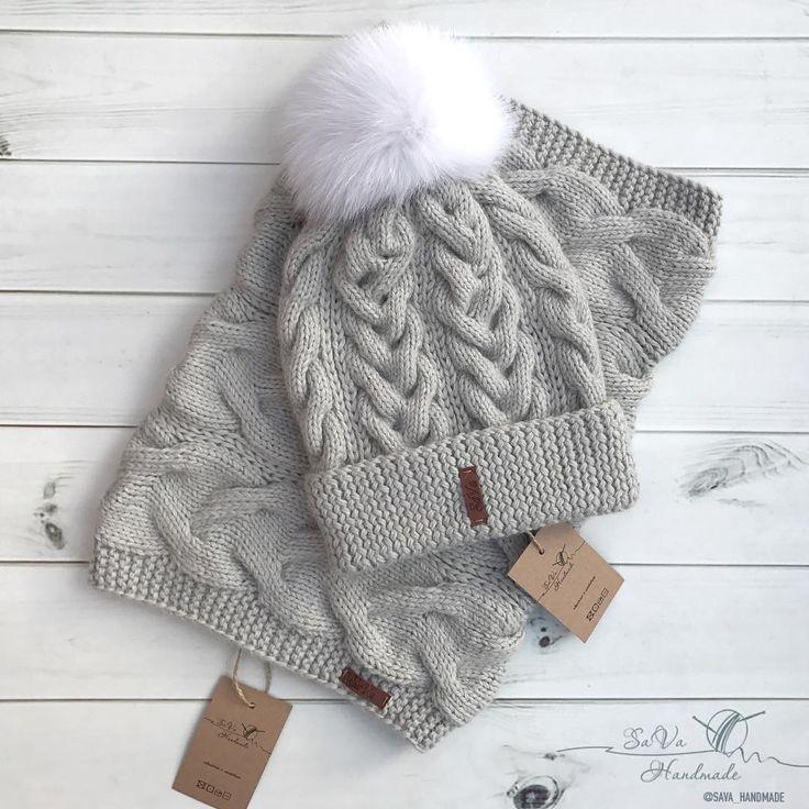 """1,242 Likes, 36 Comments - Вязаные Вещи Ручной Работы (@sava_handmade) on Instagram: """"Зимний комплект из нежной альпаки шапочка и снуд  в наличии!!!  Заказать ➡️в what's app/viber…"""""""