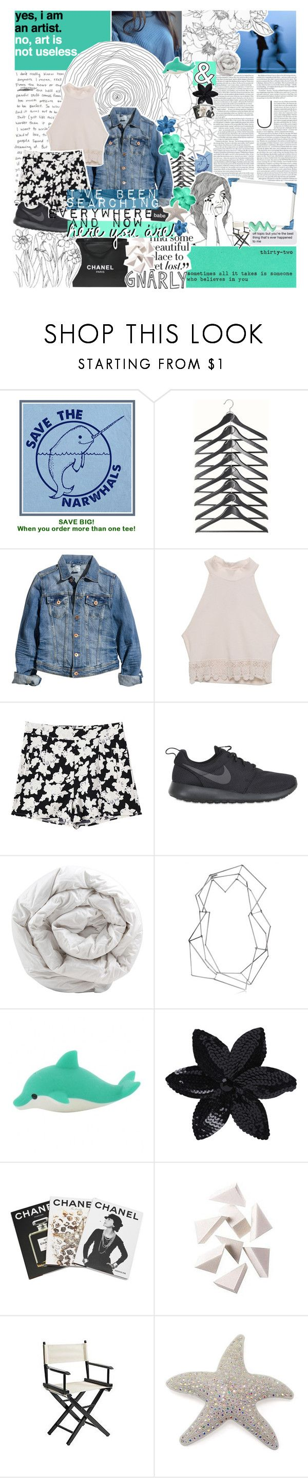 """""""730;; if you ain't here to party, take your a** back home"""" by lili-is-a-koala ❤ liked on Polyvore featuring H&M, LA: Hearts, Retrò, Chanel, NIKE, Brinkhaus, BANCI GIOIELLI, ASOS, Assouline Publishing and Bobbi Brown Cosmetics"""
