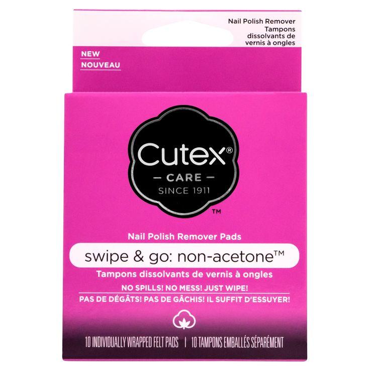 Cutex Swipe and Go Remover Pads Non- Acetone - 10ct