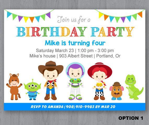 best 25+ toy story invitations ideas on pinterest | toy story, Party invitations