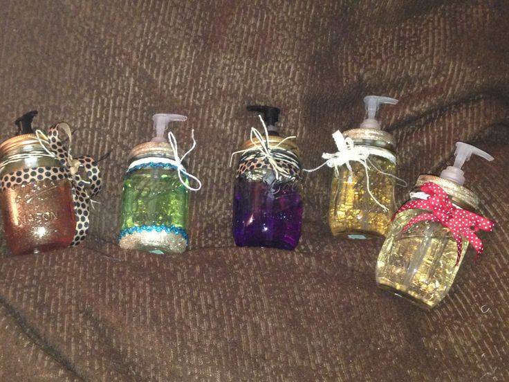 mason jar soap dispensers.. made these as xmas gifts for co-workers!