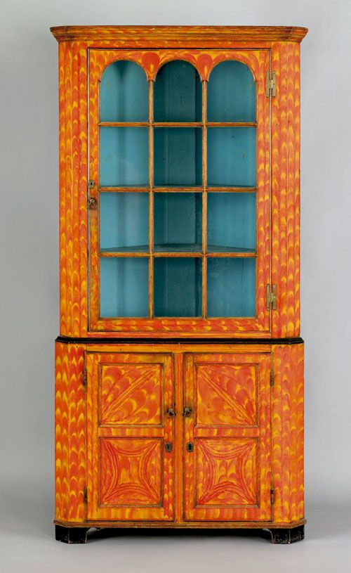 bohemian furniture. realized price 49140 exceptional pennsylvania painted poplar two part corner cupboard early 19th c bohemian furniturecountry furniture i