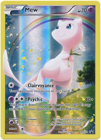 Mew XY110 Pokemon TCG: XY Black Star Promo Card, Full Art Holo Pokemon Card #pokemon #pokemontcg #pokemoncards
