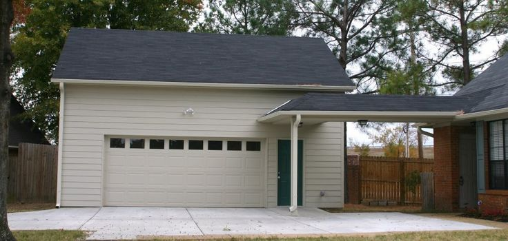 62 best carports garages images on pinterest carport for Detached garage with carport