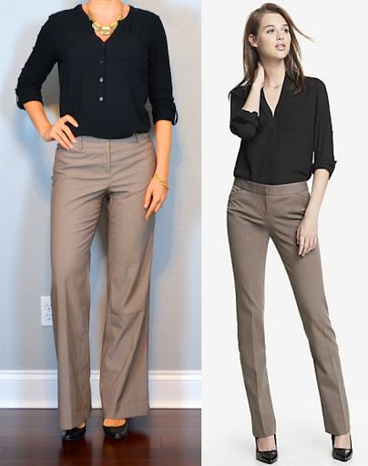 outfit post: black button up shirt, brown pants, black pumps http://outfitposts.com/2016/04/outfit-post-black-button-up-shirt-brown.html?utm_campaign=coschedule&utm_source=pinterest&utm_medium=Outfit%20Posts&utm_content=outfit%20post%3A%20black%20button%20up%20shirt%2C%20brown%20pants%2C%20black%20pumps