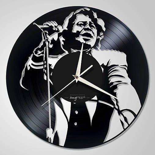 anynOOn / James Brown - vinylové hodiny z LP