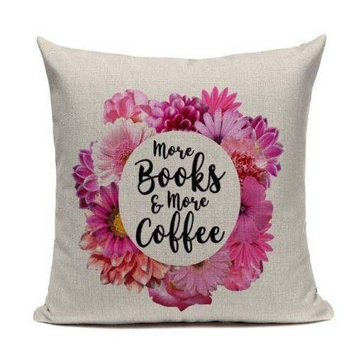 More books and more coffer cushion cover. Books love reading Books throw pillow covers, Cushion/Pillow Cover 18 x 18 Inch