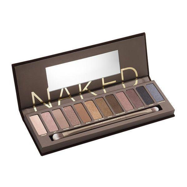 Naked Eyeshadow Palette (170 BRL) via Polyvore featuring beauty products, makeup, eye makeup, eyeshadow, eyeshadow brushes, urban decay eye makeup, eye shadow brush, urban decay e urban decay eyeshadow