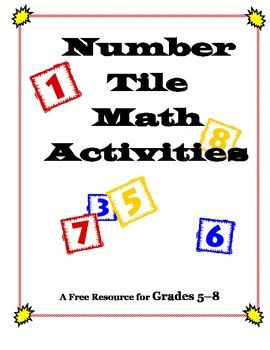 80 best free tpt math 3rd 5th images on pinterest teaching ideas number tiles free problem solving math activities for grades fandeluxe Images
