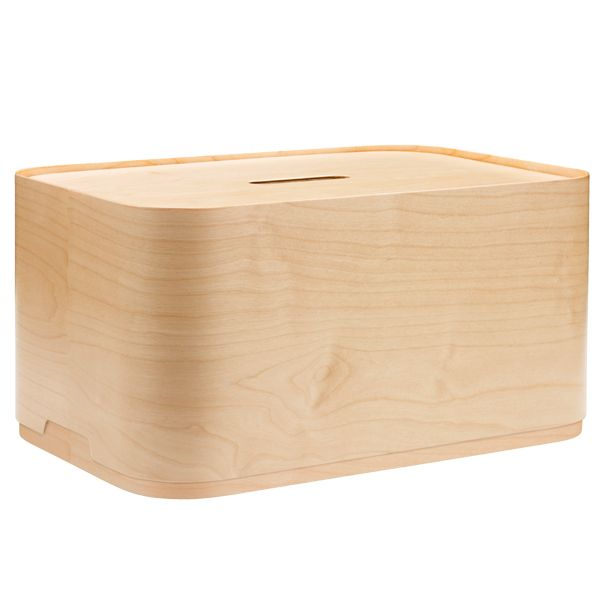 Large plywood Vakka box by Iittala. Design by Klaus and Elina Aalto.
