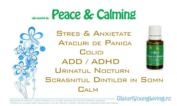 Uleiul Esential de Peace & Calming (pace si calmare) este un ulei amestec care calmeaza tensiunile si ridica starea de spirit, promovand relaxarea si un simt profund al pacii.  #pace #calm #relaxare #ulei #esential #stres #anxietate #colici #add #adhd