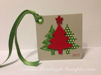Dana Kent Stampin' Up! Demonstrator  Simple Christmas Gift Tag