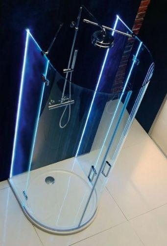Image Detail For  Couture Rio Semi Circular Frameless Illuminated Shower  Enclosure .