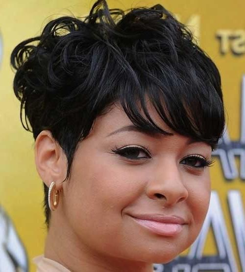 Short Hairstyles For Black Women With Round Faces Short Curly Pixie For Black Wo…