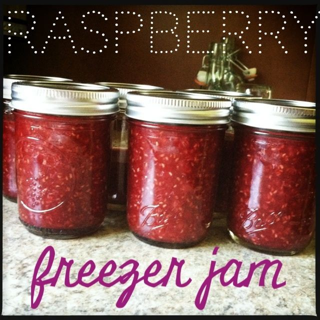 tales from a cottage: Raspberry Freezer Jam- less sugar than other recipes I have found...