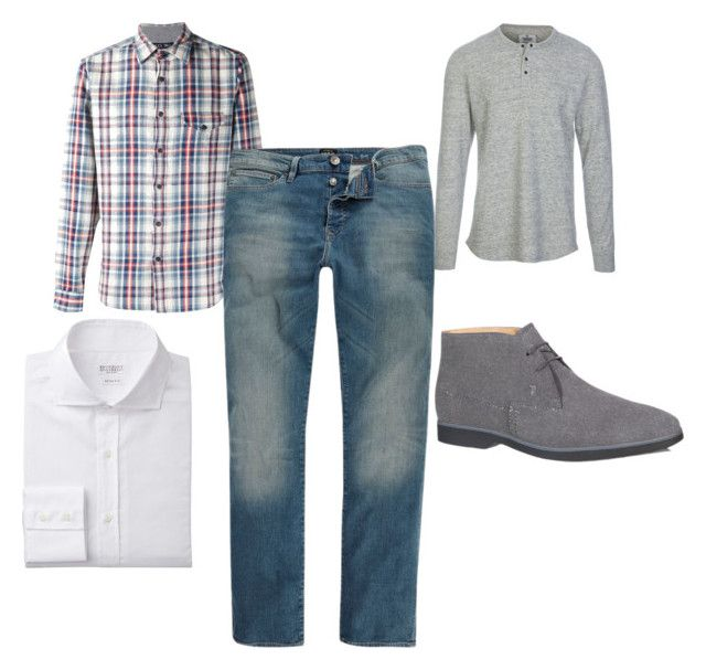 """""""Stitch Fix Men's"""" by amberjans on Polyvore featuring Reigning Champ, Alex Mill, River Island, Tod's, men's fashion and menswear"""