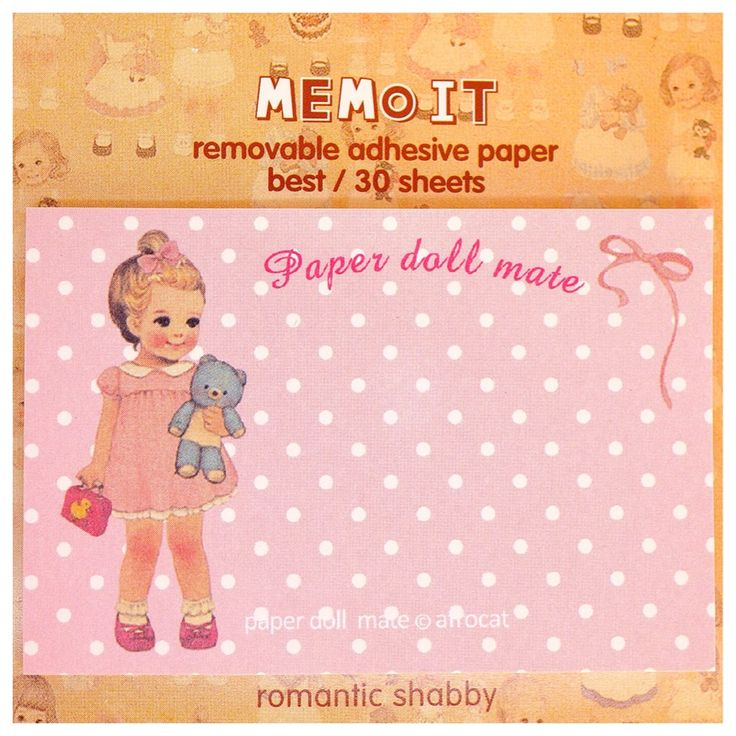 Kawaii PAPER DOLL MATE Korea vintage sticky notes memo pad stationery cute pink dots by MyChildhoodDream on Etsy https://www.etsy.com/listing/250270127/kawaii-paper-doll-mate-korea-vintage
