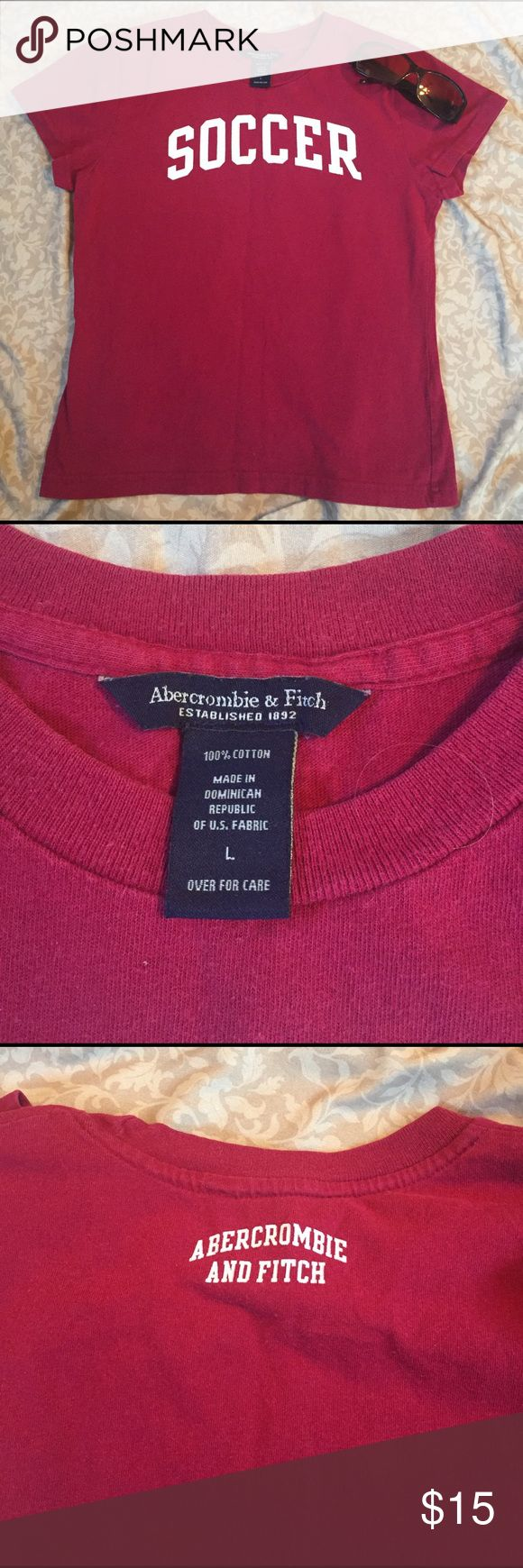 Abercrombie and Fitch soccer T-shirt Cute Abercrombie and Fitch Soccer T-shirt junior large Abercrombie & Fitch Tops Tees - Short Sleeve
