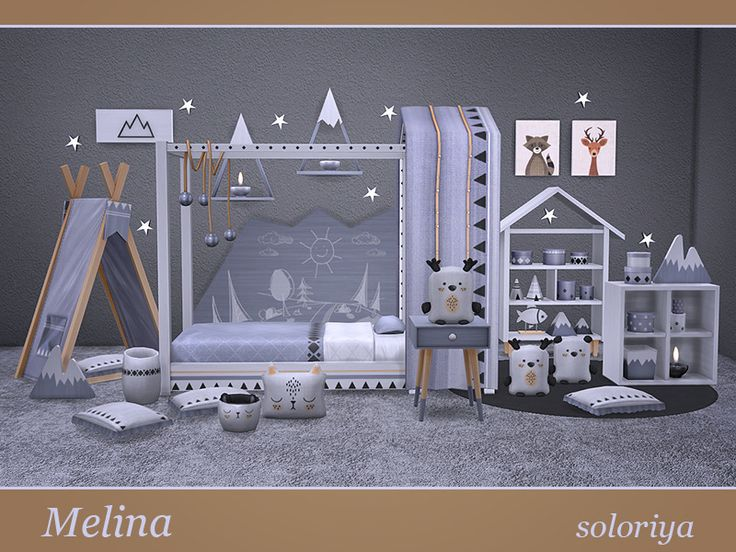 Lana Cc Finds Melina Toddlers Room Симс План