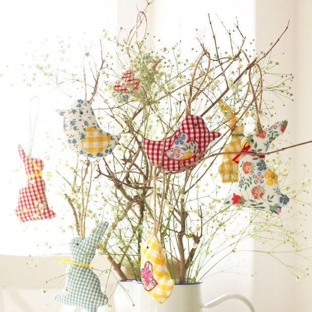 Easter bunny and Easter chick decorations to sew