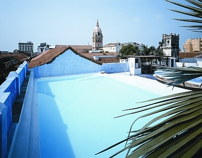 the rooftop pool in Cartagena's La Passion hotel - where we honeymooned