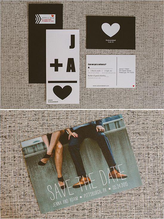 Hochzeitseinladung - Initialen+