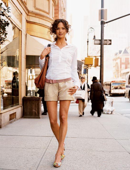 Khaki Shorts Outfit