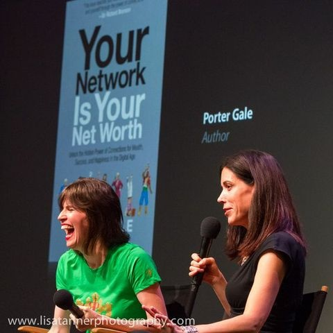 Your Network Is Your Networth author Porter Gale with WIM's Kelly Hoey
