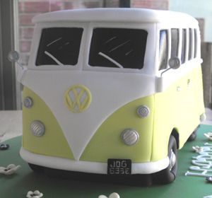VW Camper Van Birthday Cake Front View