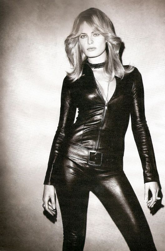 Isabeli Fontana by Terry Richardson for W Magazine - Jitrois leather catsuit