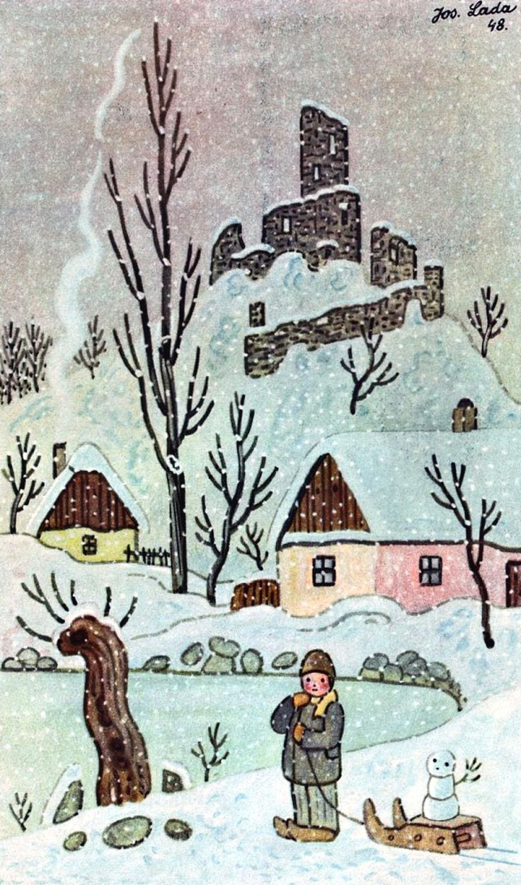 Josef Lada. Winter. 1948 | Art and Faith, Too